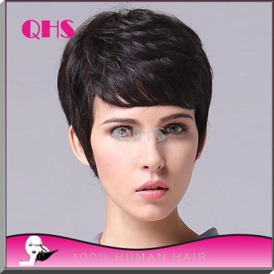 short cut brazilian hair bob wigs lace front wig with baby