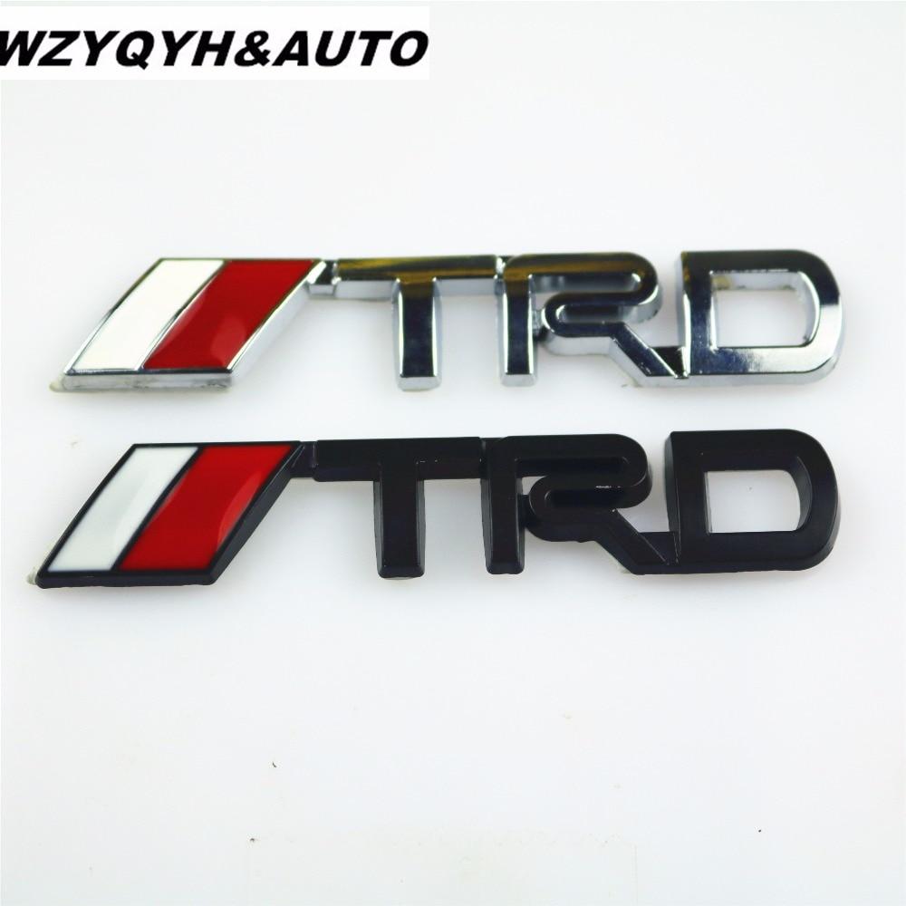 Wzyqyh auto 3d chrome trd racing development logo metal emblem badge car styling decal for toyota car