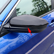 Carbon Fiber Look Car Styling Side Mirror Covers For Honda Civic 10th Sedan Coupe Hatchback 2016-2018 Exterior Rear View Molding