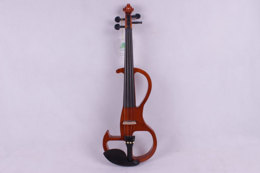 4/4 Electric Violin 4 string brown color     #2 the item is the color   if you need other color please tell me 4 string 4 4 electric violin silent pickup fine tone solid wood3 the item is the color if you need other color please tell me