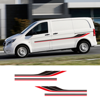 1 Pair 2 Sides Motorhome Stripes Camper Van Graphics Stickers Universal Vinyl Decals For Mercedes Vito Ford Transit Renault Kang