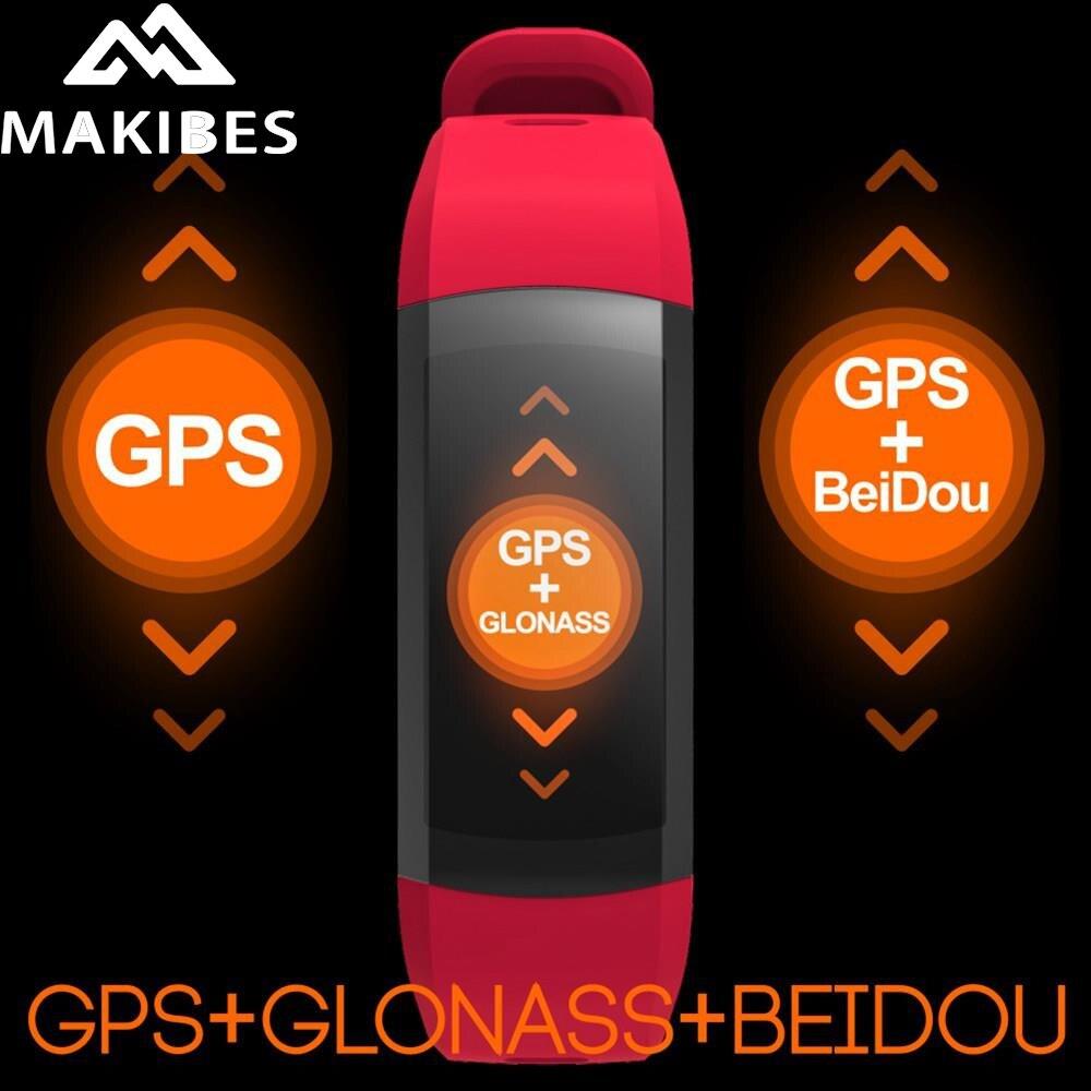 Makibes G04 Bluetooth Bracelet intelligent GPS IP68 étanche Sport Bracelet écran tactile fréquence cardiaque Fitness Tracker bande intelligente
