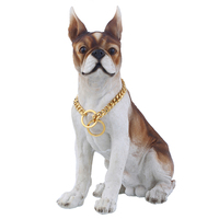 Training Choker Collar For Pet Puppy Dog Chain 316L Stainless Steel Gold Cut Curb Cuban Link Customize Length 18inch 11mm DC05