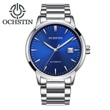 OCHSTIN Luxury Brand Fashion Mens Watches Men Automatic Mechanical Wristwatch Stainless Steel Bracelet Waterproof Date Clock jargar brand automatic fashion dress wristwatch round dial mechanical watches with stainless steel band for men