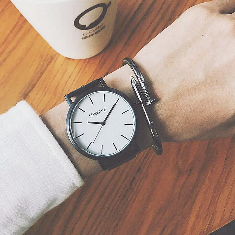где купить Relogio feminino Business Quartz Wrist Watches Men Women Watch Fashion Leather Band Female clock Saat erkekler 2017 по лучшей цене