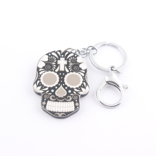 Colorful Skull Key Chain Jewelry