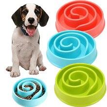 Anti Choke Pet Bowl Slow Feeding Dish Dog Anti-Gulping Slow Down eating Food Feed Bloat