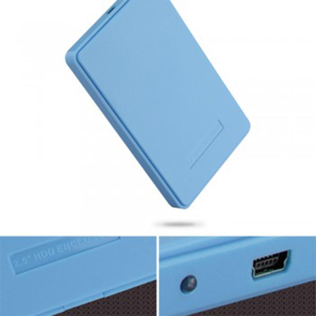 2015 new blue external enclosure case for hard drive hdd - Porta hard disk sata ...