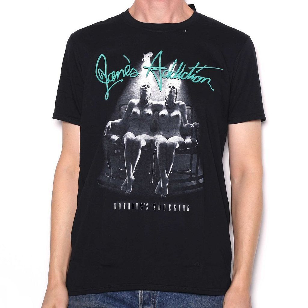 Janes Addiction Nothings Shocking T-Shirt Loose Black Men T shirts Homme Tees
