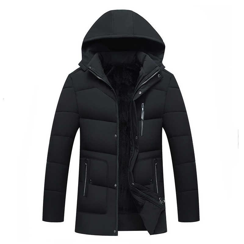誠品鉉新 2018 メンズジャケットコート厚く暖かい冬ジャケットカジュアルメンズパーカーフード付き生き抜く綿が詰めジャケット