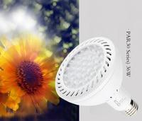 10pcs 36W 36 leds E27 Par30 LED Bulb 85 265V Warm White/white 4000K/6000K LED spotlight for track USA Japan and Euro indoor use