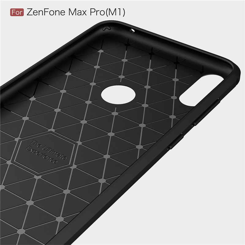 For Asus Zenfone Max Pro M1 ZB602KL ZB601 Case Carbon Fiber TPU Silicone Phone Case Cover For Asus ZenFone 4 Max ZC520KL Case