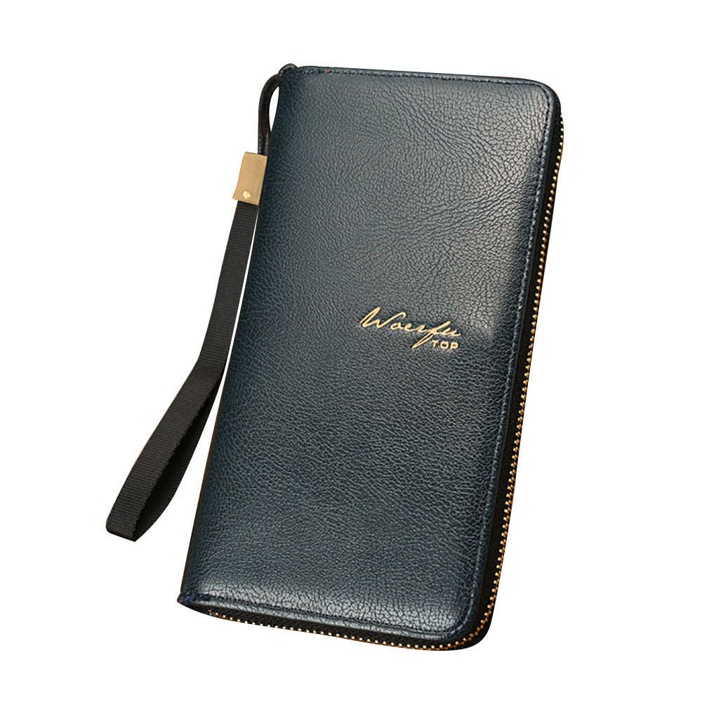 Luxury Brand Men Wallets Long Men Purse Male Purse PU Leather Coin Pocket Zipper Clutch Wallet Credit Card Holder 2018 L luxury brand wallet male mens leather card holder business billfold zipper purse wallets men coin clutch carteira masculina zer