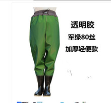 2018 hot sale new breathable half body wading pants camo waterproof PVC men women fishing waders boots shoes jumpsuit trousers