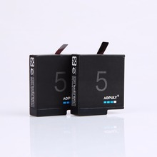 2Pcs 1600mAh Gopro5 battery Gopro hero 5 Rechargeable Replacement batteries for Go Pro 5 gopro hero 5 camera AHDBT 501 AHDBT-501