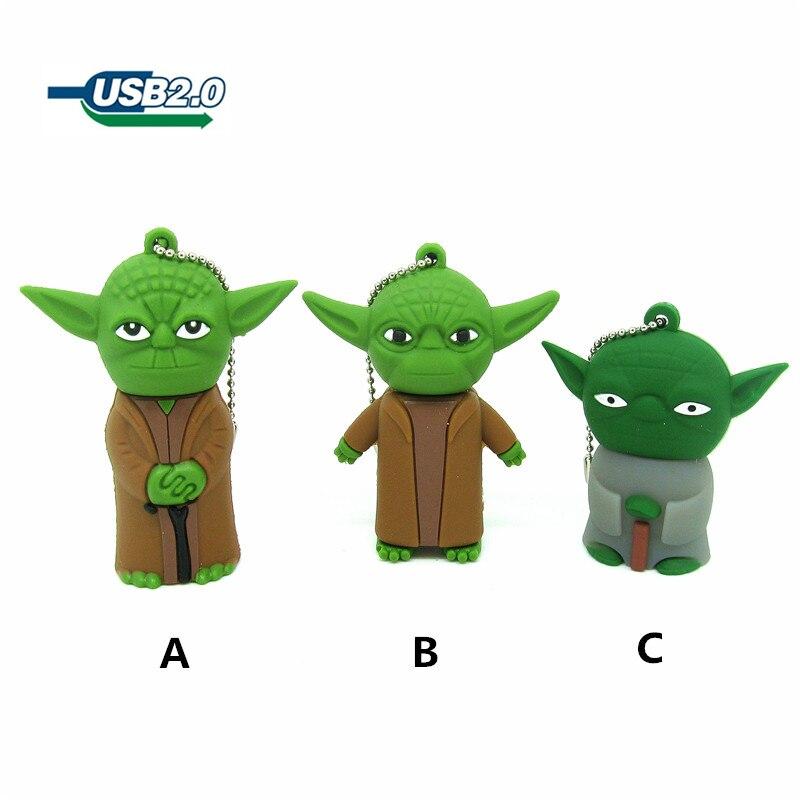 ⃝Star Wars USB flash drive Jedi maestro Yoda pendrive 4G 8g 16G 32G ...