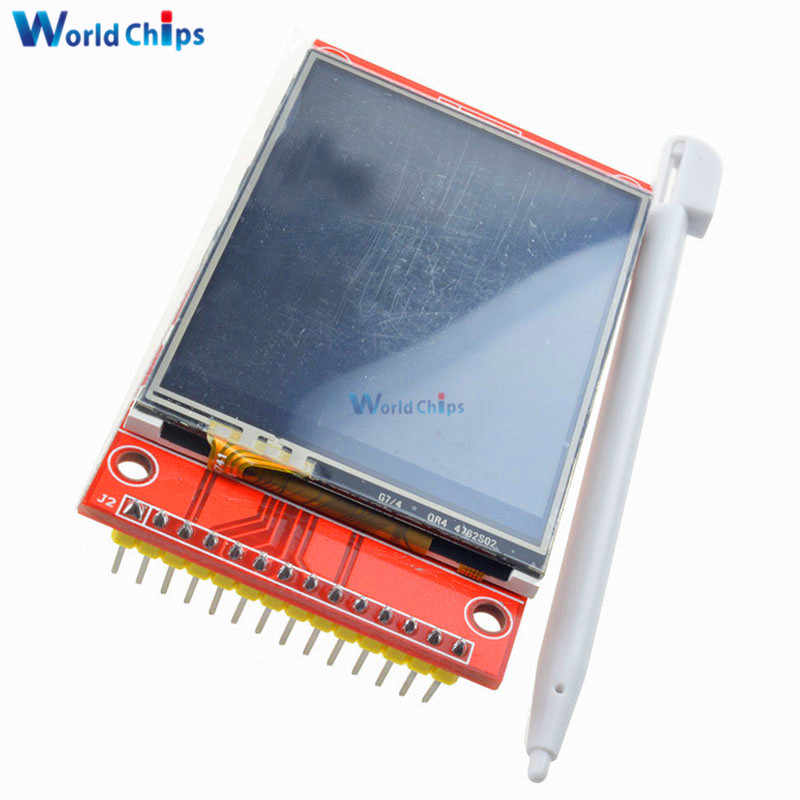 "240x320 2.4"" SPI TFT LCD Touch Panel Serial Port Module With PBC ILI9341 3.3V 2.4 Inch SPI Serial White LED Display"