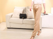 New pattern Silk lounge casual elastic pants 100% female silk sleepwear   pajama -06