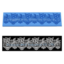Hot 1 pc Flower silicone lace mold fondant mold cake decorating tools chocolate gumpaste mold wedding cake decoraton CK-SM-124