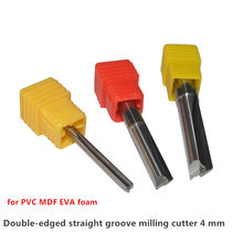 4mm double edged straight slot milling cutter edge knife bit for PVC density board EVA foam carving(China)