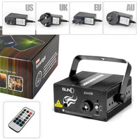 24 Patterns GB Led Laser Stage Lighting Effect Laser Projector Party Club Bar DJ Disco Home