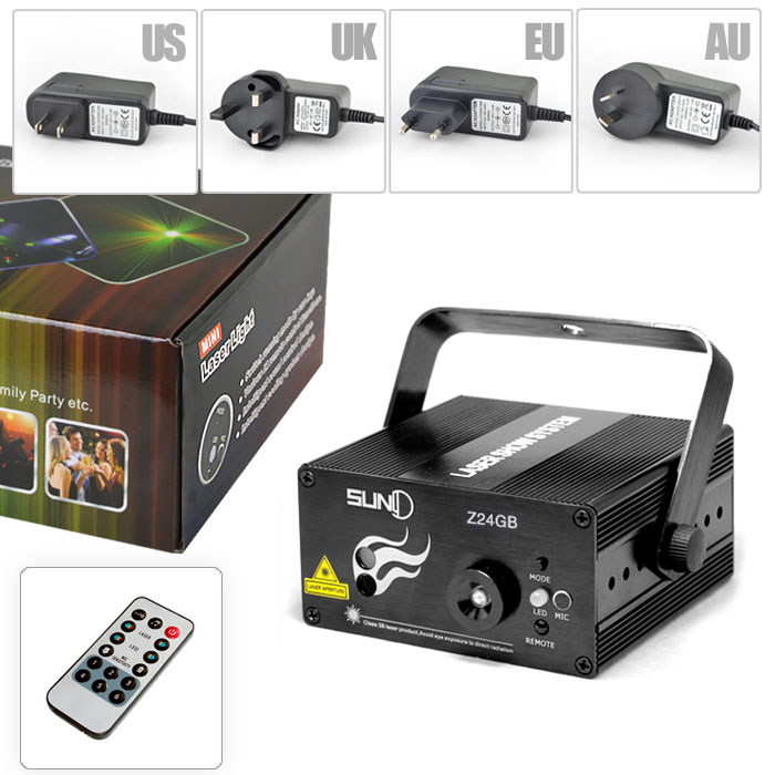 24 Patterns GB Led Laser Stage Lighting Effect Laser Projector Party Club Bar DJ Disco Home Show Professional Light