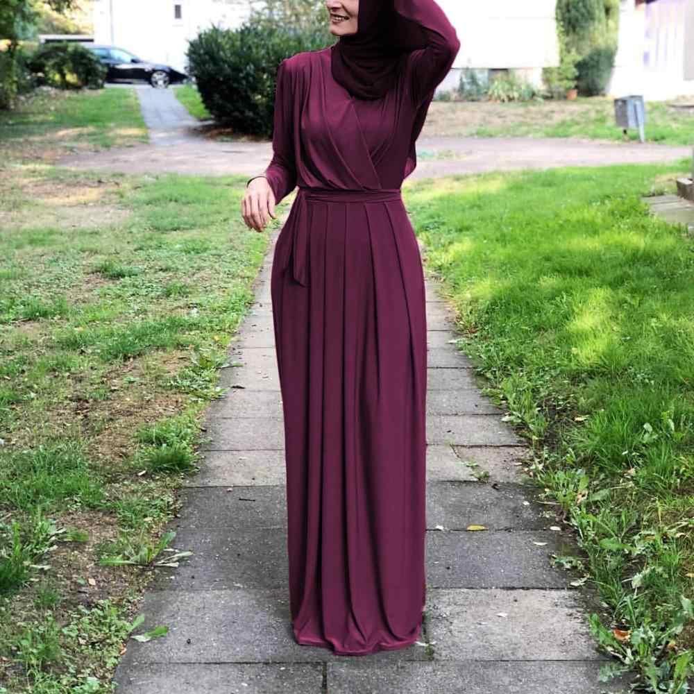 2019 женское мусульманское платье абайя Турция Ближний Восток мусульманское платье музыкальный халат Рамадан абайя Patchwotk элегантные Клубные вечерние мусульманская одежда