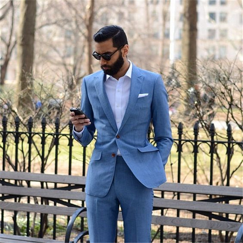 2 Pieces Mens Suits Design Variety Single/Double-breasted Custom Casual Jacket Smoking Colorful Men Suit 2 Slim Fit