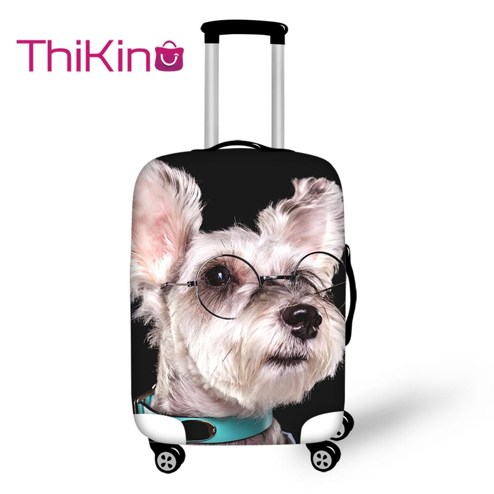 Thikin Cute Dog Paint Travel Luggage Cover For Teens Cartoon School Trunk Suitcase Protective Cover Travel Bag Protector Jacket