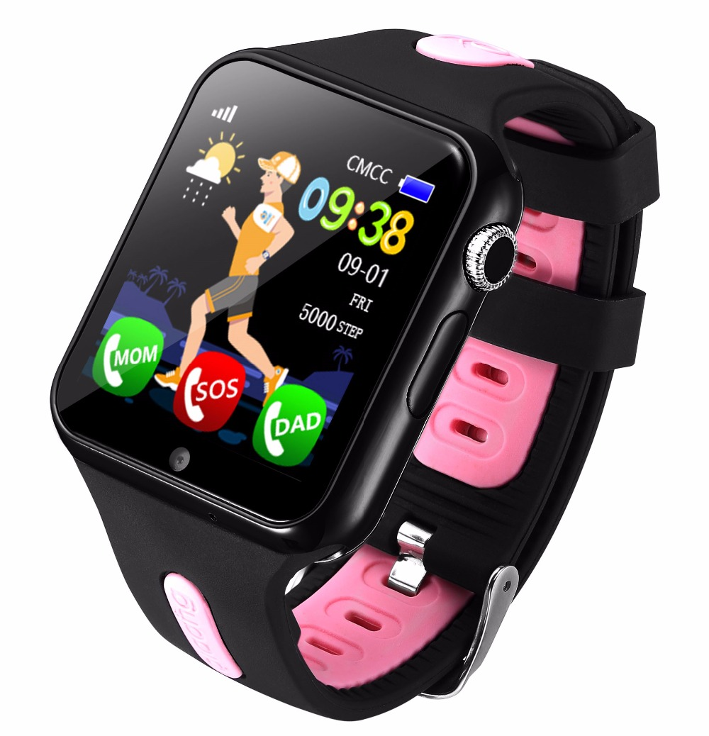 Enfants montre intelligente GPS enfants LBS Location Sport enfant Smartwatch Support étanche carte SIM caméra sécurité téléphone montres bébé