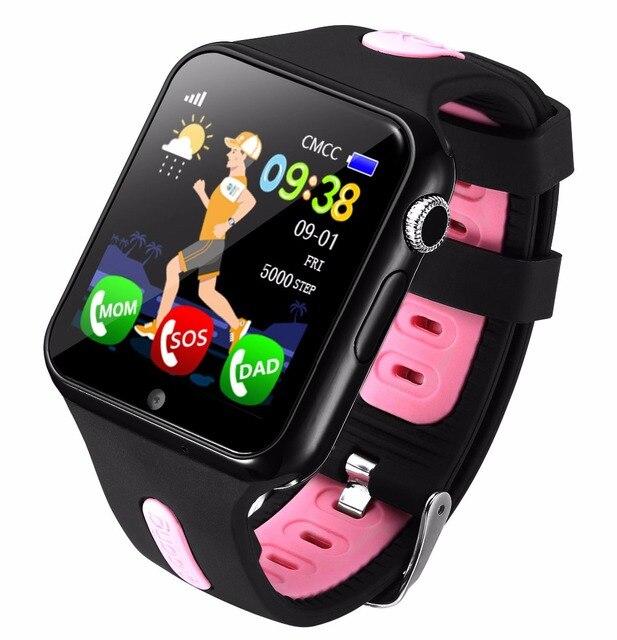 Kinder Smart Uhr GPS Kinder LBS Lage Sport Kind Smartwatch Wasserdichte Unterstützung SIM Karte Kamera Sicherheit Telefon Uhren Baby