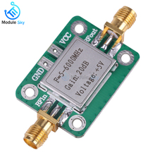 Newest Gain 20dB 5~6000 MHz RF Ultra Wideband Low noise Power Amplifier Board Module With shield function