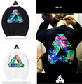 2017 New High Quality Hip Hop Printed Official 1:1 Fashion Triangle Palace Skateboard Cotton Men PALACE Sweatshirts S-XL