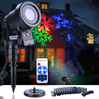 12 Patterns Christmas Hallowmas Snowflake Projector Outdoor LED Waterproof Disco Lights Wall Light Home Garden Light
