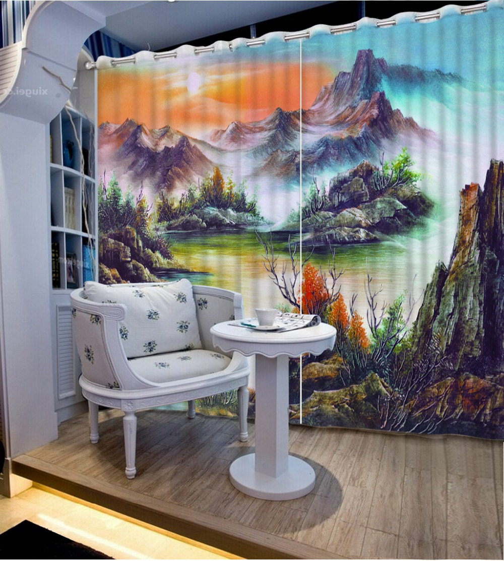 Custom Any Size Photo Curtains For Window Living Room Nature Scenery Beautiful