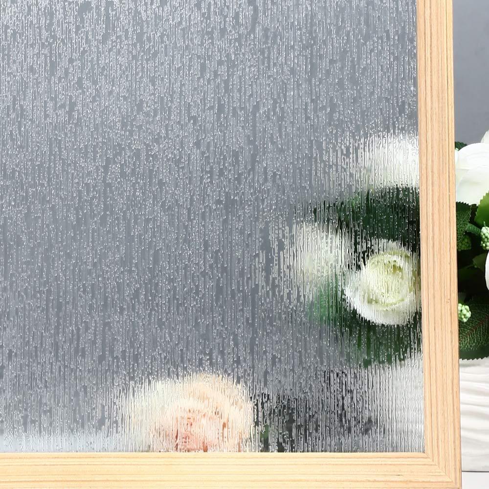 Funlife Rain Glass Film Vinyl Decorative Window Privacy Static Cling Sticker Removable Anti-UV