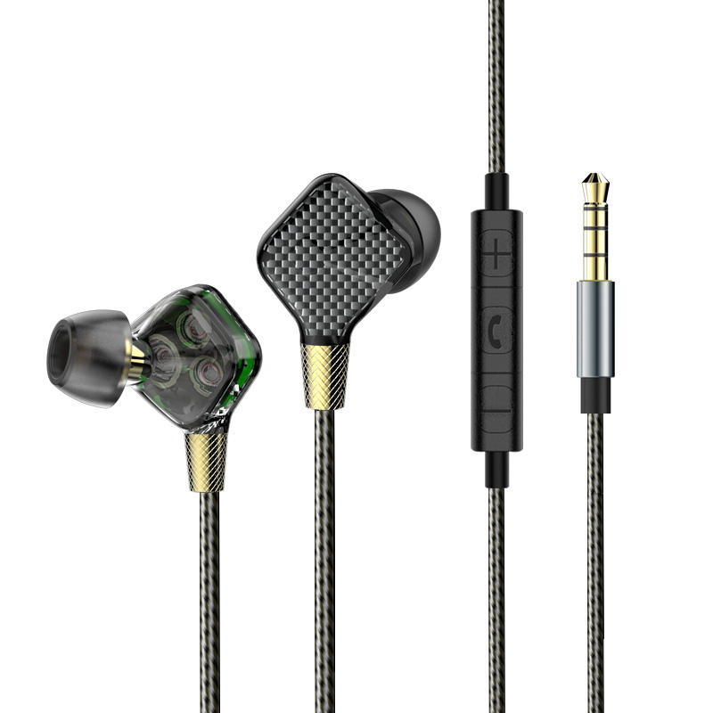 EP016 6DD Dynamic In-Ear Earphone Subwoofer Stereo Bass Headset Noise Cancelling HIFI Sport DJ Earbuds for iPhone xiaomi Samsung in stock zs5 2dd 2ba hybrid in ear earphone hifi dj monito bass running sport headphone headset earbud fone de ouvid for xiomi