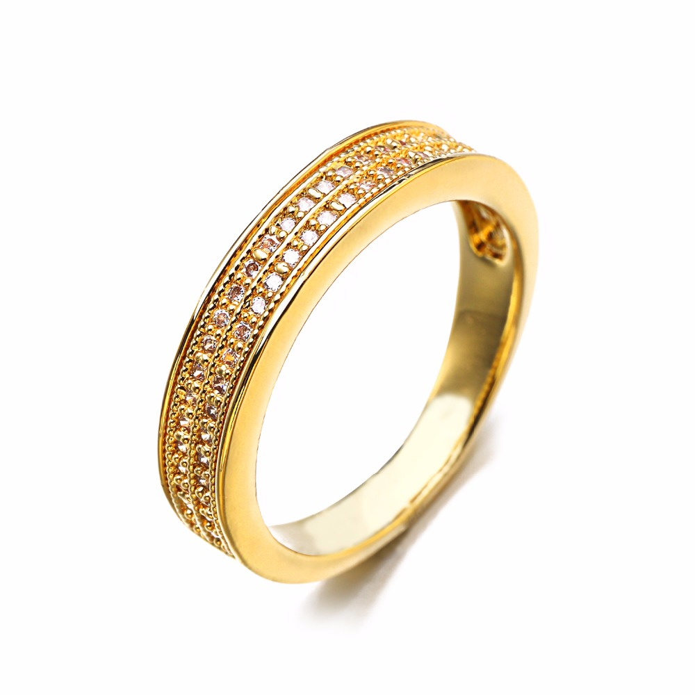 Vintage Rose Gold Jewelry Wedding Engagement For Couples Lovers Pure Love  Ring Finger Qalo Aaa Cubic