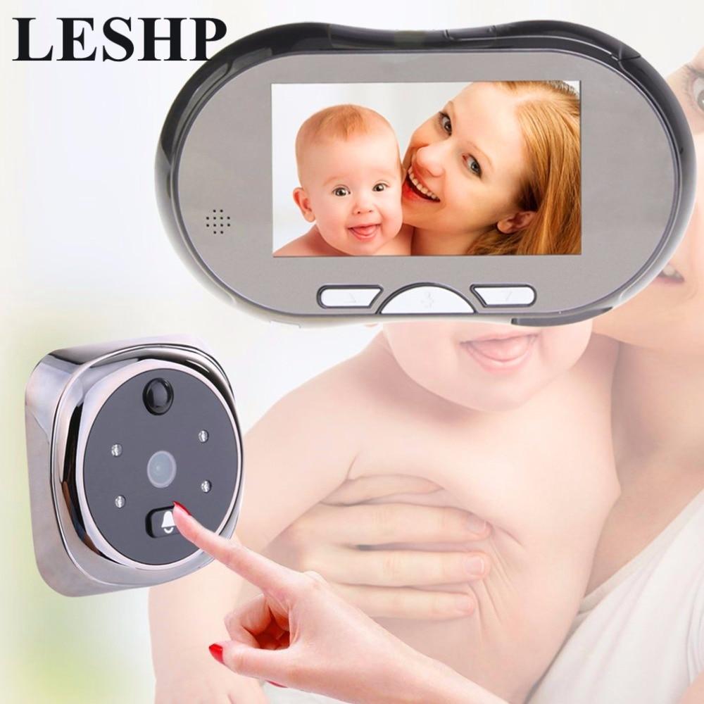 4.3 Touch Screen Digital Doorbell 160 Degree HD Wide Angle Peephole Viewer Door Eye Doorbell Night Vision Zinc Alloy Magic eye