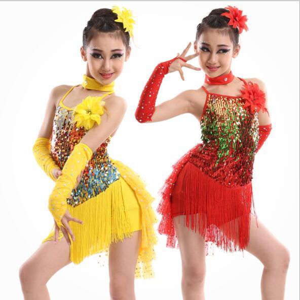 b7b6e600 Fringe Sequin Latino Samba Dance Costumes Latin Ballroom Dress For Ballroom  Dancing Franja Roupa Halteres Vestido ...