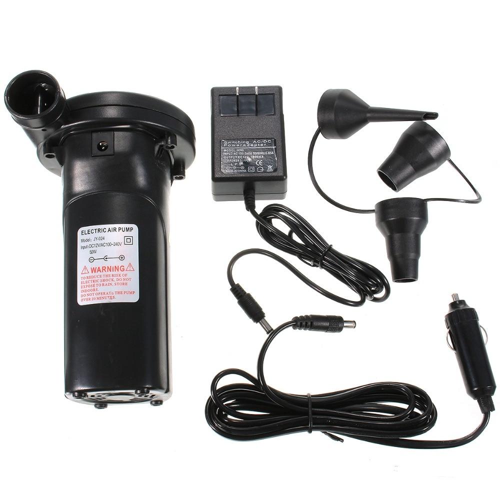 240V/12V Electric Air Pump Nickel-cadmium Battery Inflatable Air Pump Vacuum Compression Bag Pump Inflate Reflate US EUR Plug
