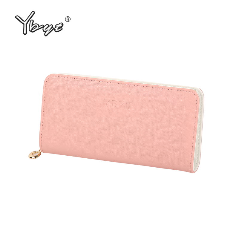 YBYT brand 2018 new fashion simple candy color long solid zipper women wallet hotsale ladies cell phone coin purses card package custom 3d stereoscopic large mural wallpaper bedroom living room tv background fabric wall paper non woven wall painting rose