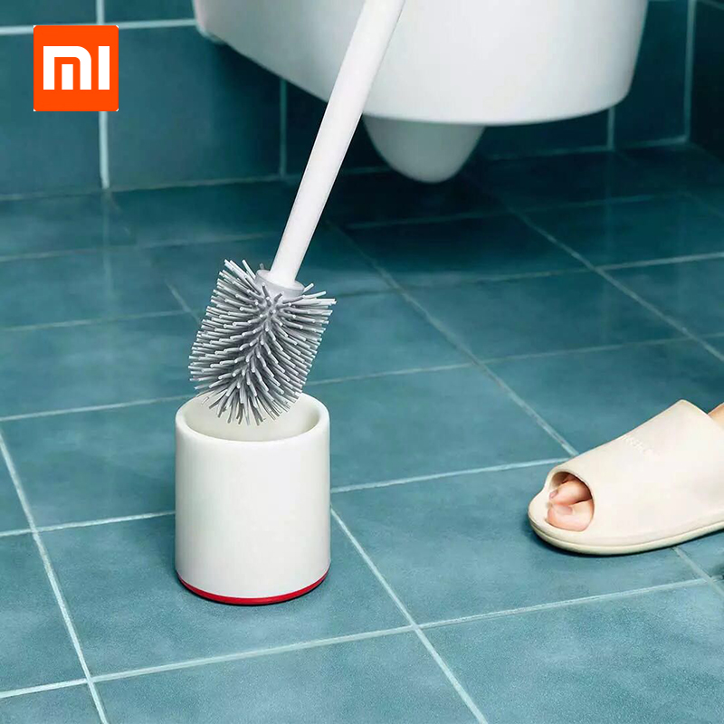 HOT Xiaomi Mijia Yijie TPR Toilet Brushes and Holder Cleaner Set Silica Gel Floor-standing Bathroom Cleaning Tool