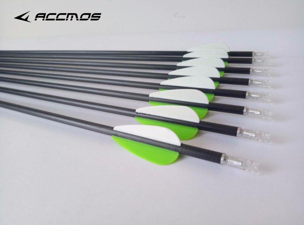 12pc Pure Carbon Arrow ID 4 2 mm Carbon Arrows 28 32 spine 700 800 900