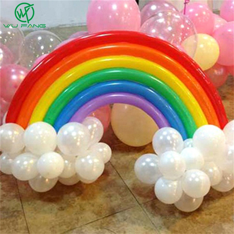 25 Pcs Diy Magic Rainbow Band Latex Balloon Set Christmas Kids Birthday Party Theme Party Decor