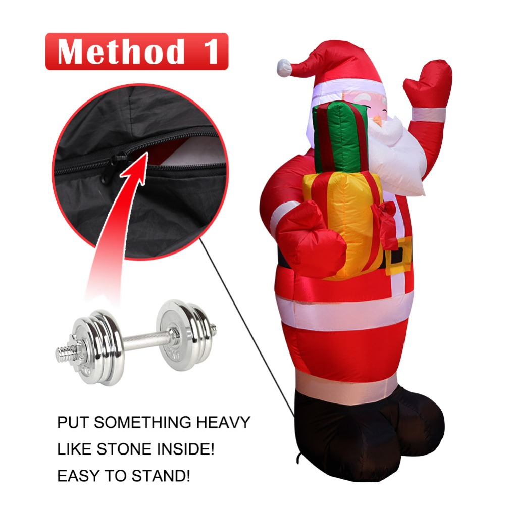 OurWarm  Christmas Santa Claus Inflatables Outdoor Indoor Merry Christmas Decorations For Home New Year Navidad Decoration 2018