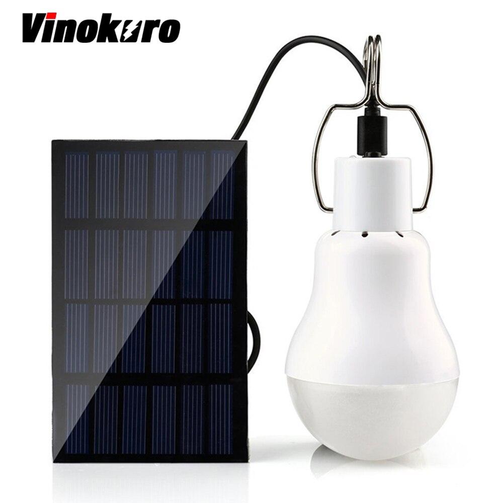 LED Solar Licht Power Energie Solaire Lamba Garten Lampe Indoor Wasserdichte Panel Notfall Kunststoff Birne Haken Zelt Laterne Im Freien