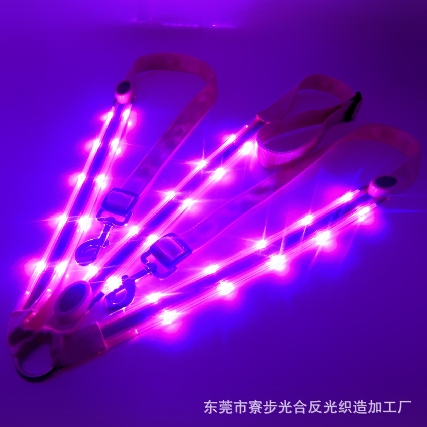 Image 2 - LED Horse Collar Bridle Halter Visibility Tack Horse Riding Equestrian Safety Gear In Night Horse LED Breastplate Collar Lights-in Halters from Sports & Entertainment