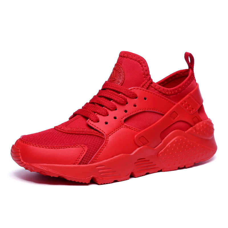 43f0942ec ... Men Sneakers Male Shoes Adult Red Black mesh Comfortable Non-slip Soft  light trainers Men ...