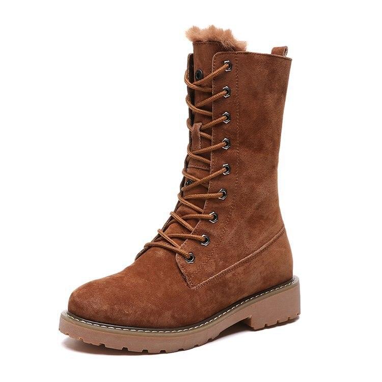 50d33c381c Chelsea Para 2018 Mujeres Marrón Mujer De Peludas Bota Botte Zapatos Nieve  1 Las Goma Invierno ...